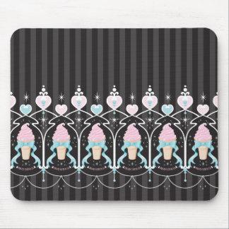 Ice Cream Dream - Black Mouse Pad