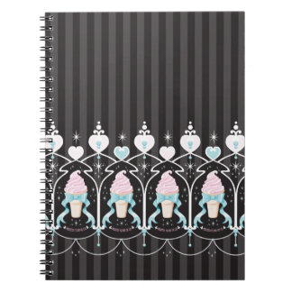 Ice Cream Dream - Black Spiral Notebooks
