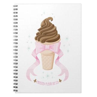 Ice Cream Dream - Chocolate Spiral Notebook