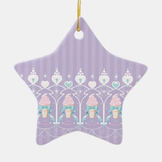 Ice Cream Dream - Lavender Ceramic Ornament