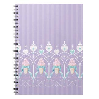 Ice Cream Dream - Lavender Spiral Note Books
