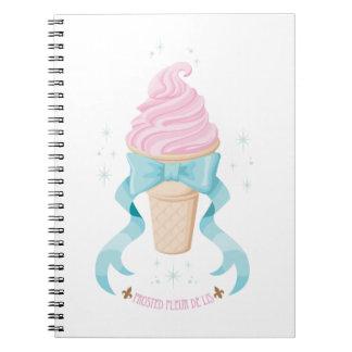 Ice Cream Dream - Strawberry Spiral Note Book