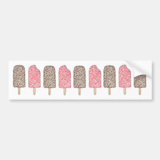Ice Cream Eclair Popsicle Popsicles Bumper Sticker
