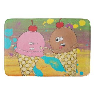 Ice Cream Fight Bath Mat
