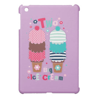 Ice Cream Food Desserts Sweet Snack Two Love Cover For The iPad Mini