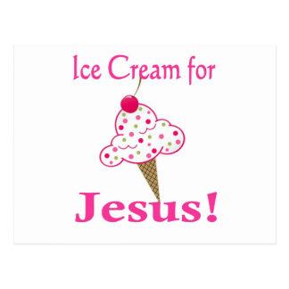 Ice Cream for Jesus! Postcard
