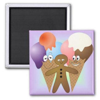 """""""Ice Cream"""" Fridge Magnet SQUARE"""