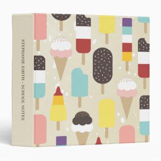 "Ice Cream & Frozen Treats 1.5"" Avery Binder"
