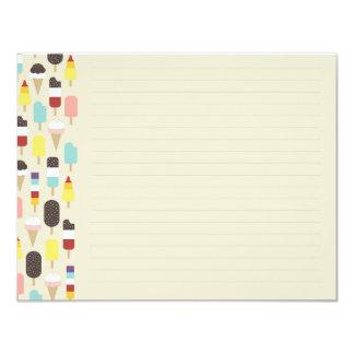 Ice Cream & Frozen Treats Flat Note Card