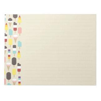 Ice Cream & Frozen Treats (Lined) Notepad
