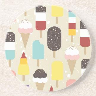 Ice Cream & Frozen Treats Sandstone Coaster