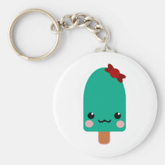 ice cream green keychain