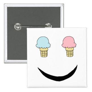 Ice Cream Happy Face Pin