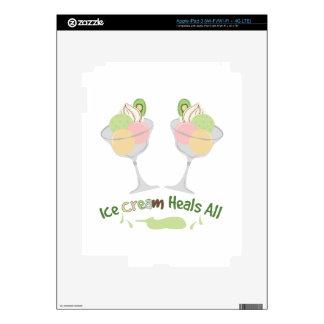 Ice Cream Heals iPad 3 Decals