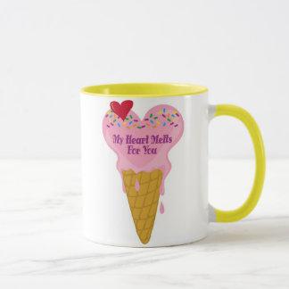 Ice Cream Heart Mug