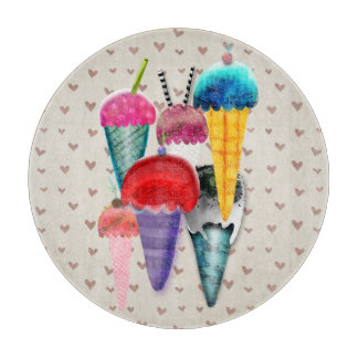 Ice cream Hearts Rupydetequila ART collection Cutting Board