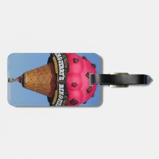 Ice Cream Hot Air Balloon Bag Tag