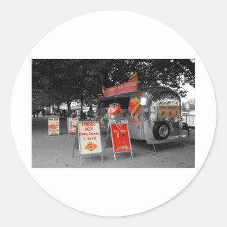 Ice Cream Hot Dogs Classic Round Sticker
