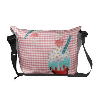Ice cream ibiza pink gingham Rickshaw Messenger Ba Messenger Bag