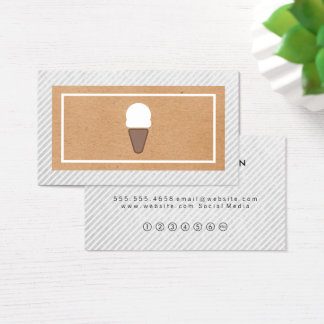 Ice Cream Icon Natural Look Loyalty Business Card