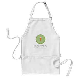 Ice cream is happiness condensed | Green Adult Apron