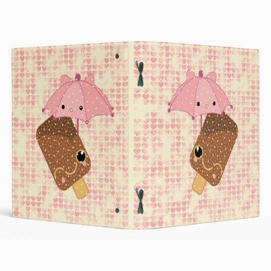 ice cream kawaii umbrella binder