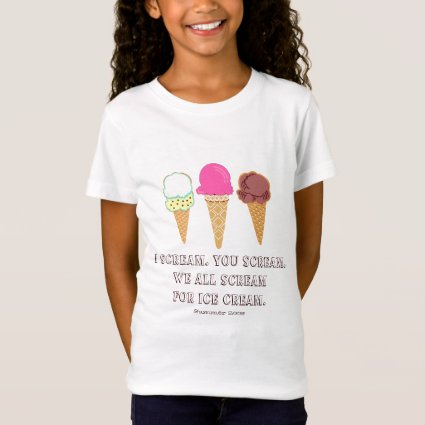 Ice Cream Kids Shirt