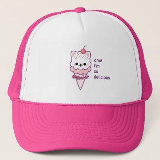 Ice Cream Kitty Trucker Hat