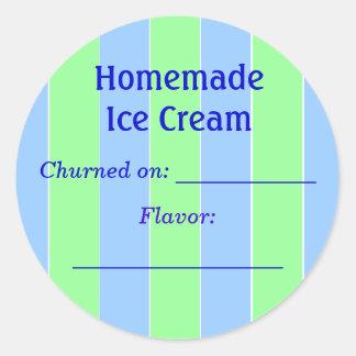 Ice Cream Label Classic Round Sticker