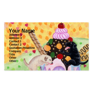 Ice Cream Labradors Business Cards