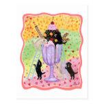 Ice Cream Labradors Postcard