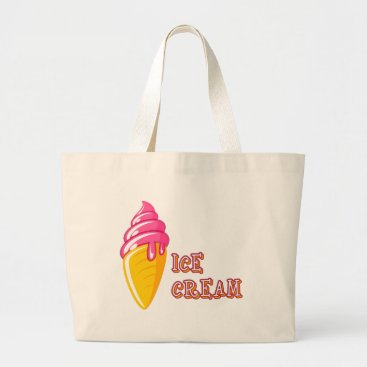 Beach Themed Ice Cream Large Tote Bag