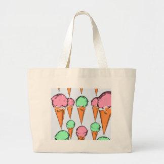 ice cream large tote bag