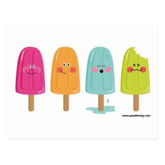 ice cream lemon postcard