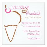 Ice Cream Lines Invitation