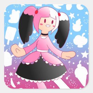 Ice Cream Lolita Stickers! Square Sticker
