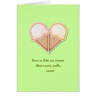 Ice Cream Love Greeting Card