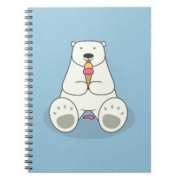 Beach Themed Ice Cream Lover Polar Bear Notebook