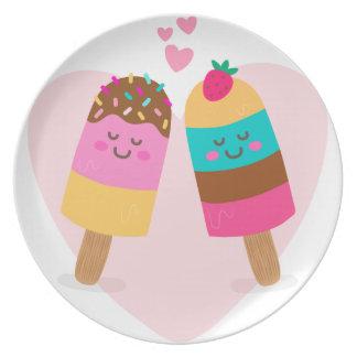 Ice cream lovers be my valentine dinner plate