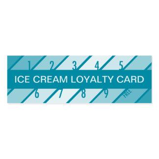 ice cream loyalty card (retrograde) business card