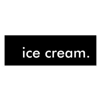 ice cream. loyalty punch card mini business card
