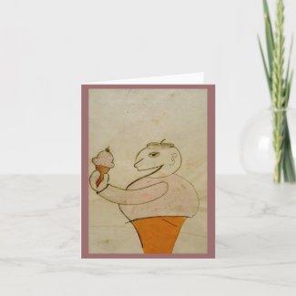 Ice Cream Man Note card, by Brad Hines