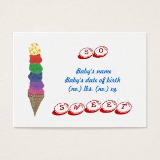 Ice cream mini birth announcement photo card