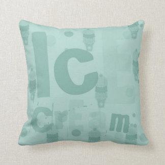 Ice Cream mint Throw Pillow