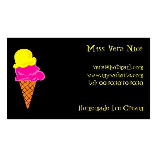 Ice Cream Miss Vera Nice Double Sided Standard Business