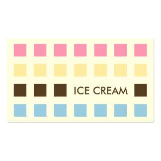 ICE CREAM (mod squares) Business Cards