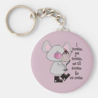 Ice Cream Mouse Keychain