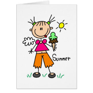 Ice Cream On A Hot Summer Day Card