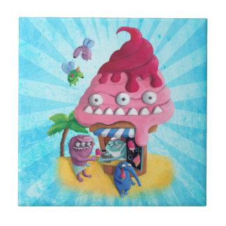 Ice Cream on the Beach Ceramic Tiles