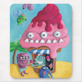 Ice Cream on the Beach Mouse Pad
